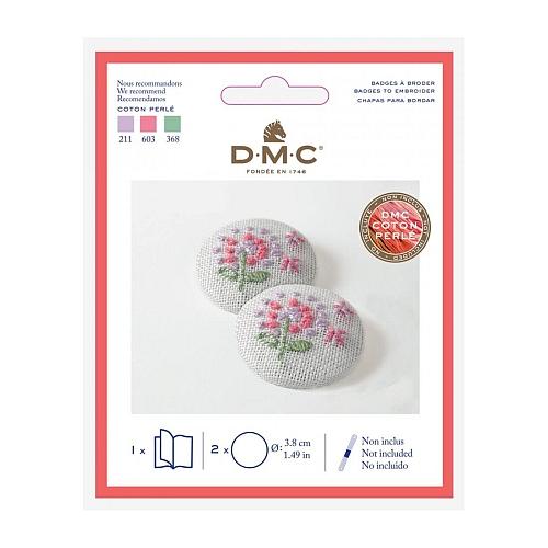 DMC Button groß d=3,8 cm zum Sticken oder Klöppeln - Klöppelwerkstatt, Ovaler Anhänger zum Besticken in traditioneller Stickerei. Auch für Klöppelspitze geeignet, klöppeln, sticken