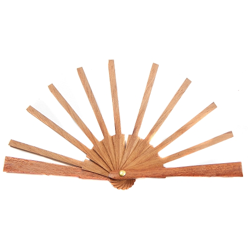 Puppenfächer Modell 2 ~ spanischer Fächer in der Klöppelwerkstatt, Holzart: Mahagonie, sehr schöne schlichte Ausführung, klöppeln, Abanico, Spitze