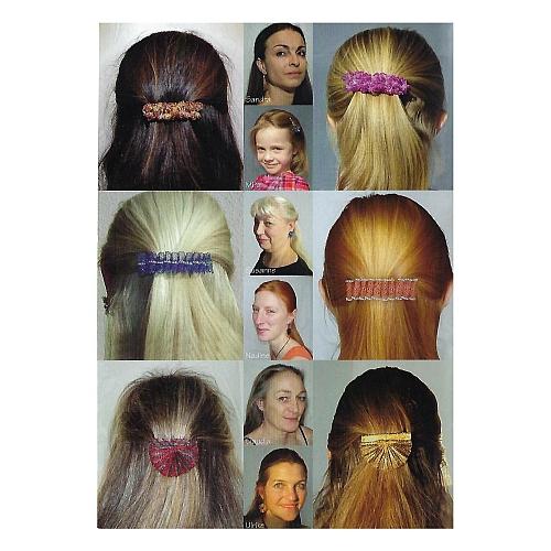 Schmuck mit Perlen, Autorin: Ulrike Voelcker, Rückseite, 7 Ohrringe, 3 Haarspangen und 2 Broschen, in der Klöppelwerkstatt, klöppeln,