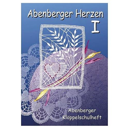 Abenberger Herzen 1 - Klöppelschule Abenberg, Klöppelwerkstatt, Abenberger Herzdeckchen, neu interpretiert. 11 verschiedene Muster, klöppeln