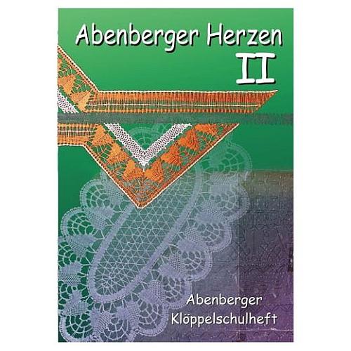 Abenberger Herzen 2 - Klöppelschule Abenberg, Klöppelwerkstatt, Abenberger Herzdeckchen, neu interpretiert. 11 verschiedene Muster, klöppeln