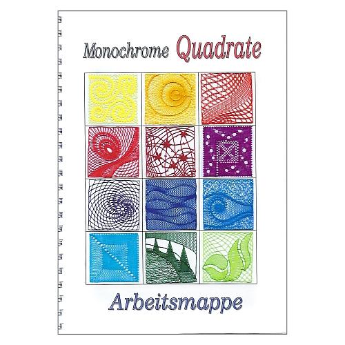 Monochrome Quadrate ~ Barbara Corbet, in der Klöppelwerkstatt, Quadrate zum ber verschiedener Klöppeltechniken, Binche, schräger Ziergrund, Flechtrand usw.