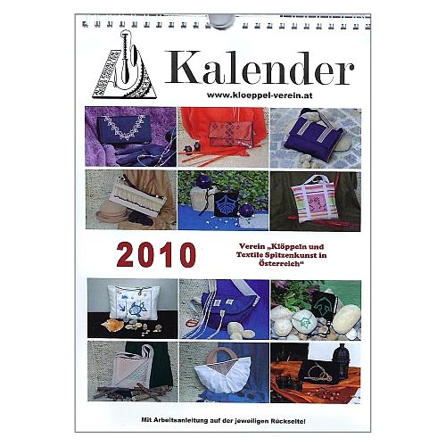 Fotokalender 2010 - Verein Klöppeln/textile Spitzenkunst Österreich ~ Klöppelwerkstatt, 12 Klöppelspitzen für Taschen mit Klöppelbriefe, klöppeln