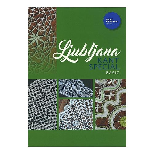 Ljubljana Kant spezial ~ Kantcentrum Brugge - in der Klöppelwerkstatt, erschienen zum World Lace Congreß. Mappe mit 10 Mustern, Torchon, klöppeln