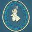 Set - Osterei mit Häschen III - in der Klöppelwerkstatt, Holzrahmen Ei, Holzhase und Klöppelbrief Osterhase, klöppeln, Osterdekoration