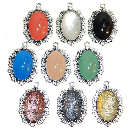 Anhänger Sonne oval mit Stein in verschiedenen Farben, zum klöppeln, in der Klöppelwerkstatt, Schmuck, Kette, klöppeln, Torchon