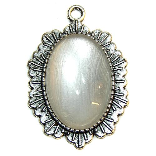 Anhänger Sonne oval mit Stein in perlmut, zum klöppeln, in der Klöppelwerkstatt, Schmuck, Kette, klöppeln, Torchon