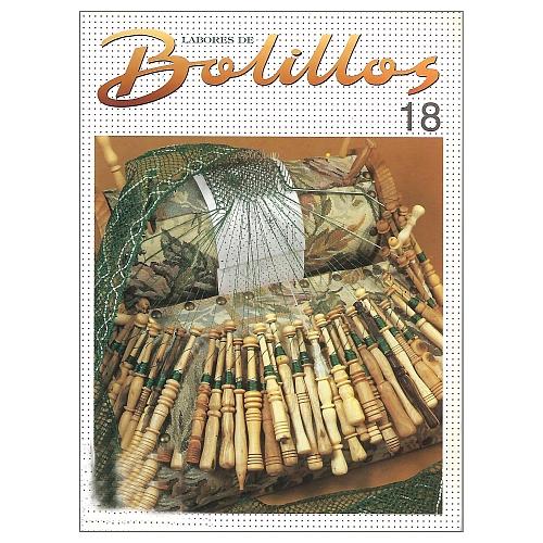 Labores de BOLILLOS 18, eine spanische Zeitschrift, Klöppelbriefe zu unterschiedlichen Themen, wie Torchon, Schals, Fächer, Taschen, Bänderspitze, usw. in der Klöppelwerkstatt erhältlich.