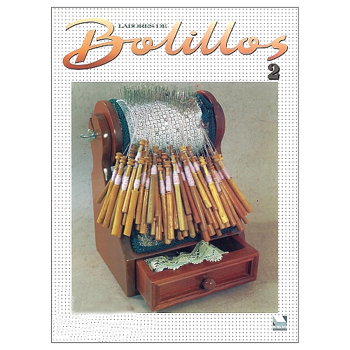Labores de BOLILLOS 2, eine spanische Zeitschrift, Klöppelbriefe zu unterschiedlichen Themen, wie Torchon, Schals, Fächer, Taschen, Bänderspitze, usw. in der Klöppelwerkstatt erhältlich.