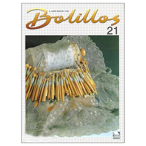 Labores de BOLILLOS 21, eine spanische Zeitschrift, Klöppelbriefe zu unterschiedlichen Themen, wie Torchon, Schals, Fächer, Taschen, Bänderspitze, usw. in der Klöppelwerkstatt erhältlich.