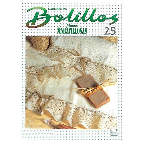Labores de BOLILLOS 25, eine spanische Zeitschrift, Klöppelbriefe zu unterschiedlichen Themen, wie Torchon, Schals, Fächer, Taschen, Bänderspitze, usw. in der Klöppelwerkstatt erhältlich.