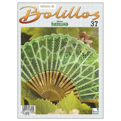Labores de BOLILLOS 37, eine spanische Zeitschrift, Klöppelbriefe zu unterschiedlichen Themen, wie Torchon, Schals, Fächer, Taschen, Bänderspitze, usw. in der Klöppelwerkstatt erhältlich.