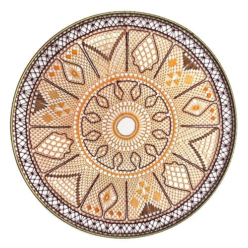 Klöppelbrief Mandala ~ M. L. Prinzhorn, in der Köppelwerkstatt erhältlich, Fensterbild, Torchon, klöppeln