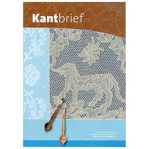 Kantbrief - Klöppelwerkstatt, eine Verbandszeitschrift, herausgegeben von Landelijke Organisatie Kant Kunst NL, verschiedene gebrauchte Hefte, klöppeln, Heft 1-2014