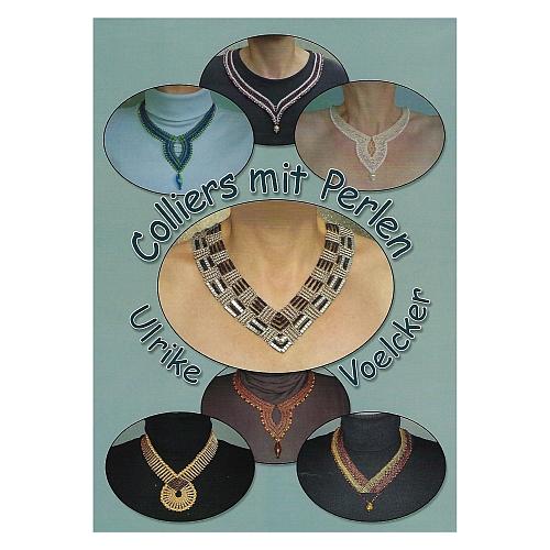 Colliers mit Perlen ~ Ulrike Voelcker, in der Klöppelwerkstatt erhältlich, Schmuck, Colliers, Kette klöppeln, 18 verschiedene Klöppelbriefe