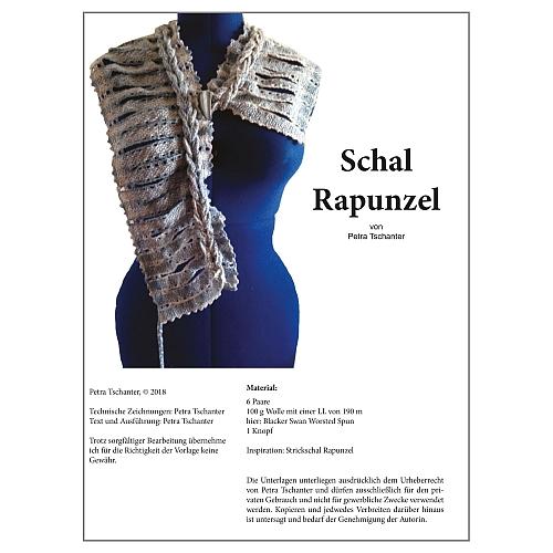 Klöppelbrief Schal Rapunzel - Petra Tschanter, in der Klöppelwerkstatt, klöppeln, Torchon,