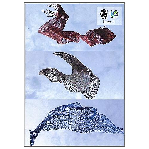 Lace 1 - Manos del Uruguay - Klöppelwerkstatt, 5 Modelle zum stricken,Anleitung und Strickschrift zu jedem Modell, stricken, Schal, Dreiecktuch