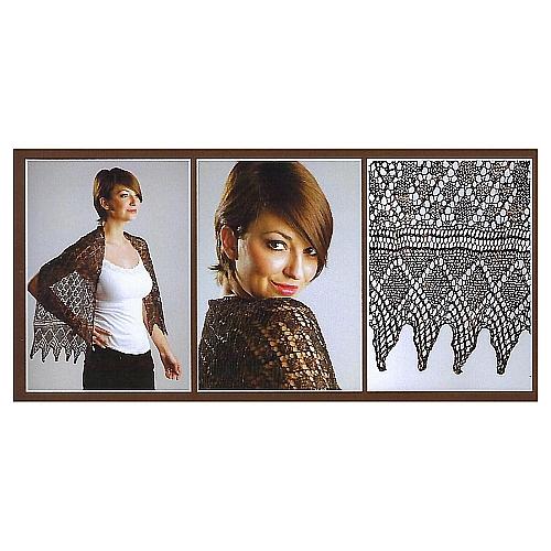 Schal Leanne ~ Anniken Allis- Klöppelwerkstatt, Strickmuster für einen Schal mit Anleitung und Strickschrift